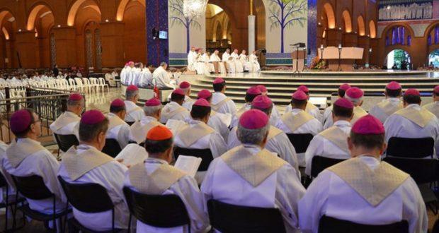 Bispos do Brasil participam de Celebração Eucarística no Santuário Nacional de Aparecida (SP) - (Foto: CNBB)