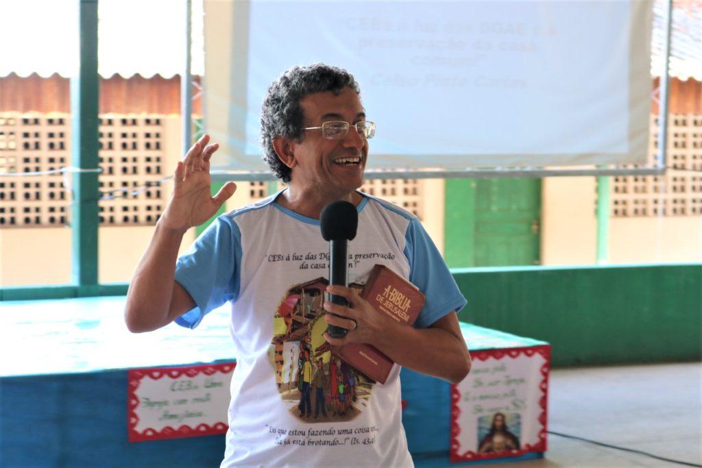 Assessor do Setor Ceb's da CNBB Celso Carias - (Foto: Jefferson Souza)