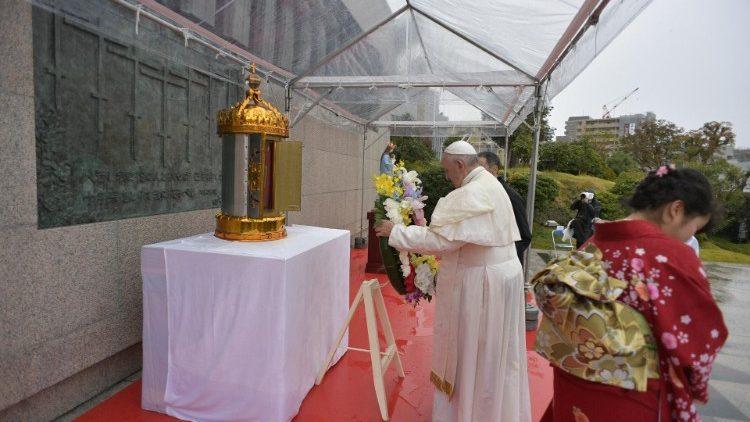 Viagem ao japão foi amplamente citada na Mensagem (Foto: Vatican Media)