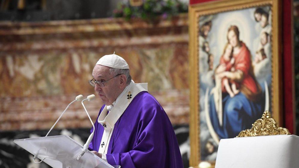 Para durante homilia do deste I domingo do advento   Foto: Vatican Media