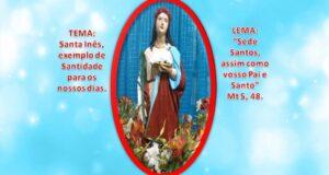 Banner Santa Inês - paroquia